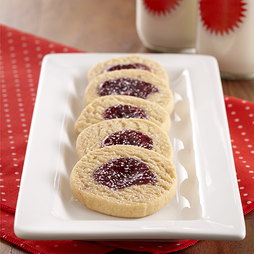 PB&J Shortbread Cookies