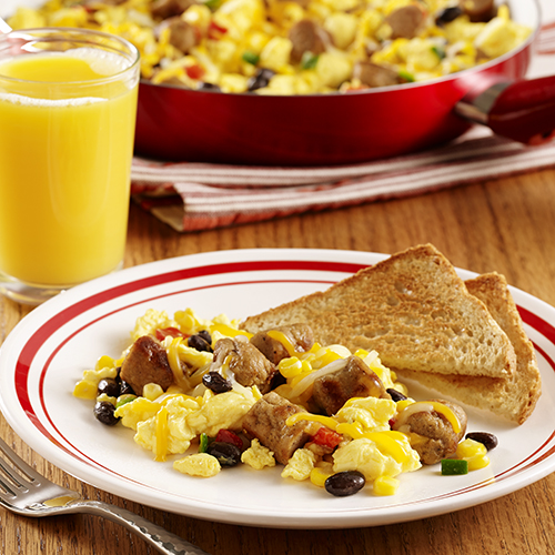 Southwest Sausage Scramble | Ready Set Eat